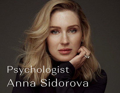 Website concept for a psychologist