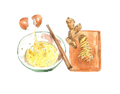 Food & Cook's illustrations - Jia dong Lin