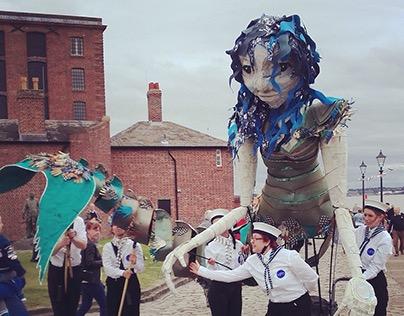 Giant Mermaid Puppet