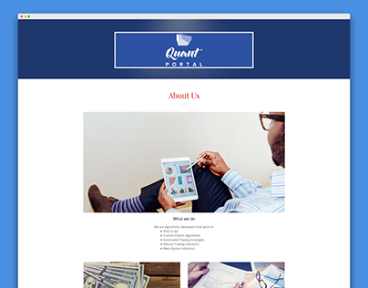 QuantPortal Landing Page