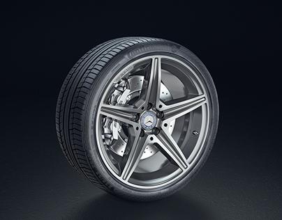 Product Shot - Mercedes-Benz AMG rim