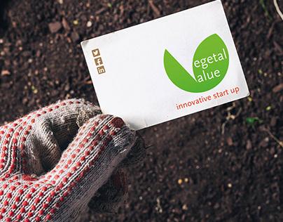 Vegetal Value. logo constunction & branding