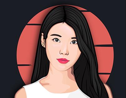IU (Lee Ji-Eun) - Vector Art