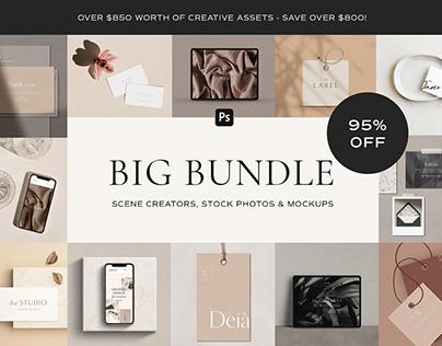 BIG Bundle: 95% OFF Photos & Mockups