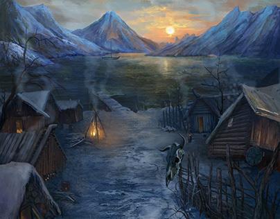 Viking Village. CG