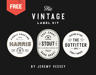 FREE VINTAGE LABEL KIT