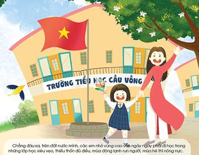 Illustrtion for Cau Vong Magazine, Agust 2018