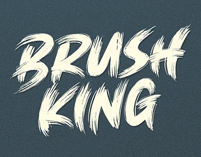 BRUSH KING / Brush Font