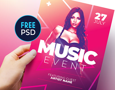 "Free Flyer Template for Photoshop ""PSD"""