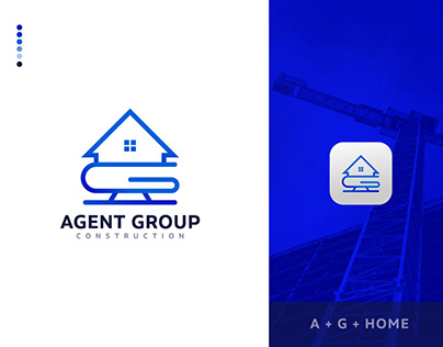 AG Minimal Modern Construction Logo Design For Sale