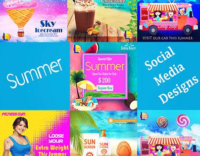 Summer Project Social Media Designs