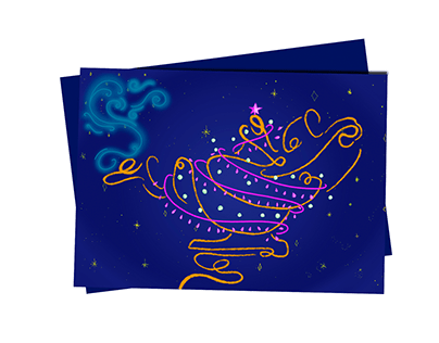 New year gift card and gif design
