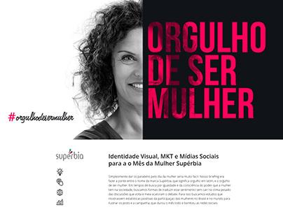 Campanha Mês das Mulher Supérbia