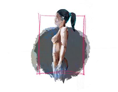 Muted anatomy sketch