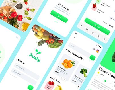 Free Fruity Fresh Food Mobile App UI