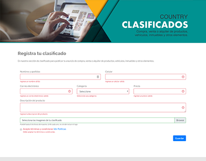 Plugin WordPress Clasificados Country Club Medellin