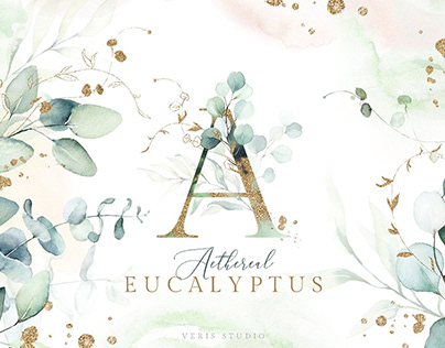 Aethereal Eucalyptus Watercolor Floral Collection