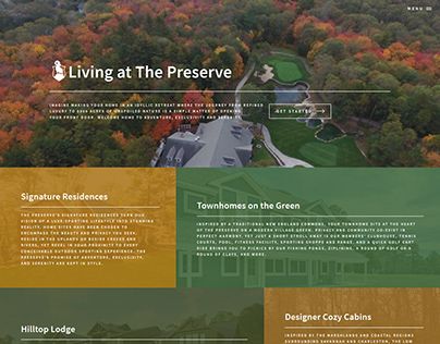 Landing Page: Living at The Preserve