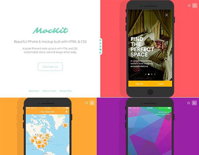 iPhone 6 mockup with HTML & CSS