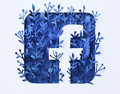 Paper Facebook Logo