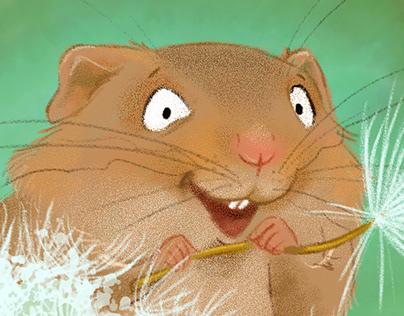 Harvest Mouse on Dandelion