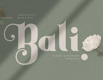 Bali Decorative Display Font