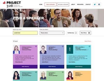 Project 3:28 Website Design Concept 2