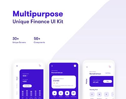 Multipurpose finance app ui kit