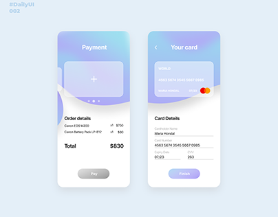 Credit Card. Daily UI: 002