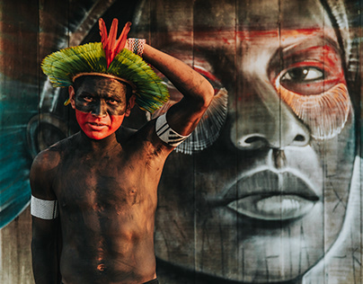 Exposição Virtual: Aldeia Kaiapó - Floresta Amazônica
