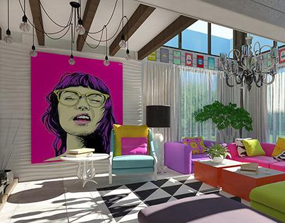 Interior pop art