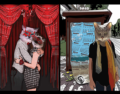 Cat Calendar Posters, Project 'Like Owner, Like Pet'