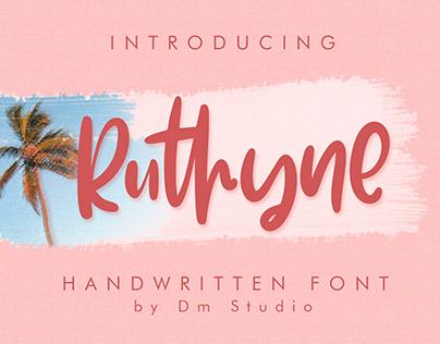 Ruthyne - Handwritten Font