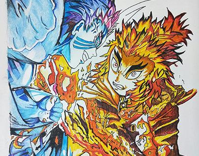 Rengoku VS Akaza