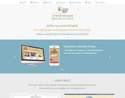 Createscape.ca re-design 2017.