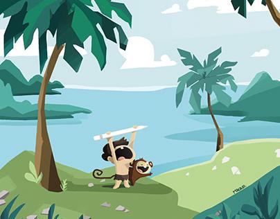 Macaco Ilustraciones hechas para proyecto personal