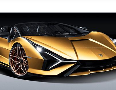 2020 Lamborghini Sian Roadster Oro