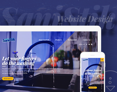 SaniStik Liquid Sanitizer - Website Design
