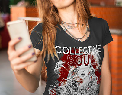 Collective Soul - Blood tee shirt illustration