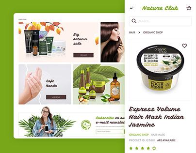 Natural cosmetics store (Desktop and mobile)