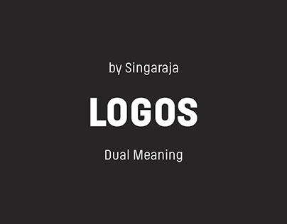 A collection of dual meaning logo concept