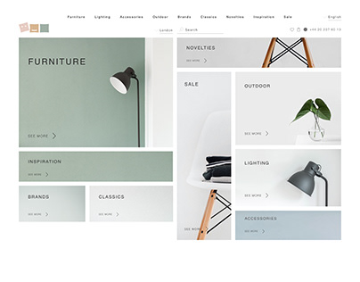 Home Goods Store UX/UI