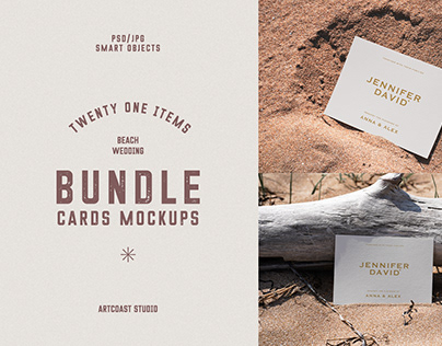 Beach Cards Mockup Collection