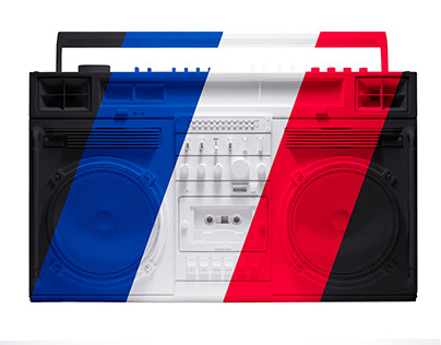 BOOM-BOX Multi color photos and vector drawings