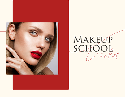 L'éclat. Makeup school design landing page