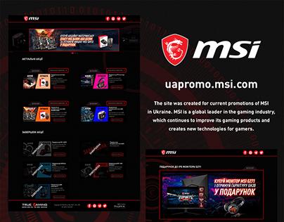 Promo site for MSI