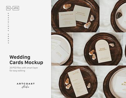 Wedding Blank Cards Mockup (FREE)