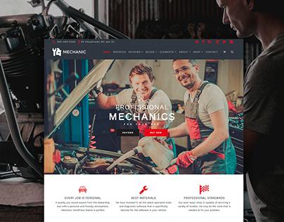 Mechanic WordPress Theme - Site Builder