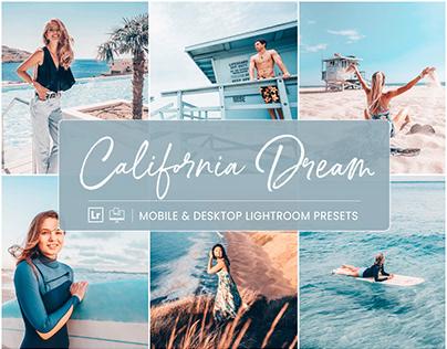 California Dream - Mobile & Desktop Lightroom Presets