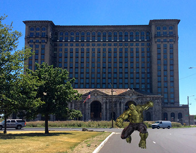 Hulk in Michigan Central Station